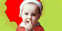 Give them a special message from baby Santa.