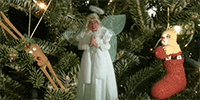 Let this Christmas tree angel out a little while longer this year.