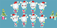 Send these sweet and silly Christmas carolers to jingle their bells.