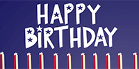 Some people are lucky to be born on a patriotic day. Wave their birthday flag!