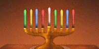 A whimsical hanukkiah to light up their hearts and holidays.