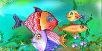 Bright birthday fishes make happy birthday wishes.