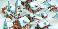 Connect with this traditional winter season's greetings scene.
